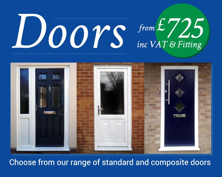 Doors from £725 inc VAT and fitting