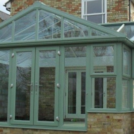Elglaze Colours and Finishes - Green Conservatory