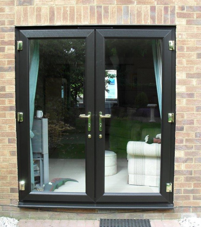 Wood blinds for patio doors french doors available from for Vinyl window designs ltd complaints