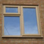 Oak upvc Window