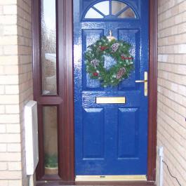 Blue composite door