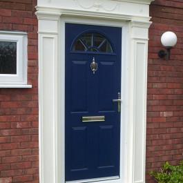 Blue Composite Door with door surround