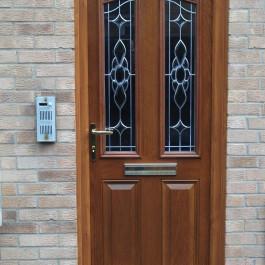 Composite Door with woodgrain finish
