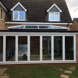 bi-fold doors and sky pod roof