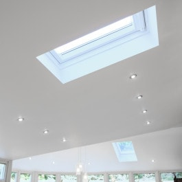 velux roof window interior shot