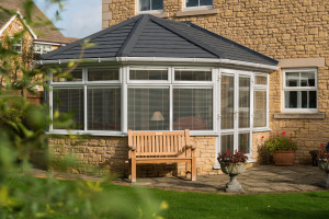 Equinox toiled roof on a conservatory