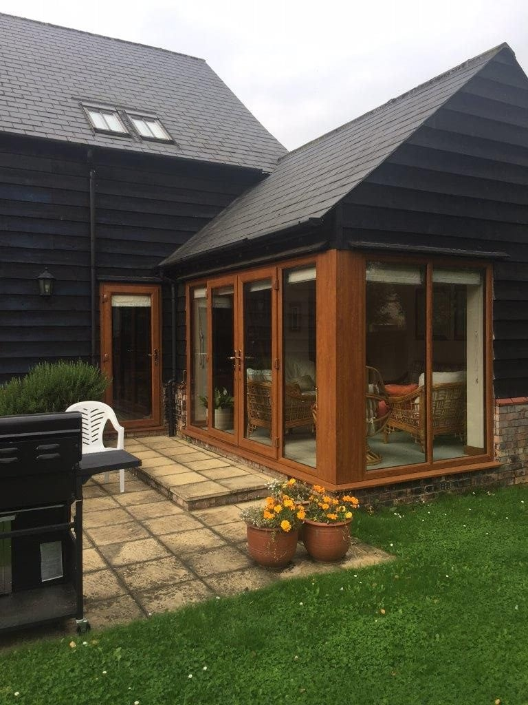 New installations september 2017 elglaze ltd for Wood effect upvc french doors