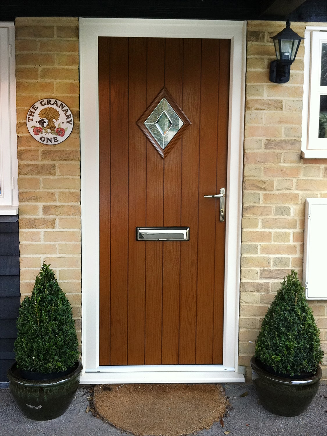 Brown door & Coloured Doors Available From Elglaze Ltd.