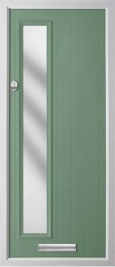 Pine Chartwell Green Frosted door