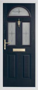 Teak Anthracite Grey door