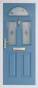 Teak Duck Egg Blue door