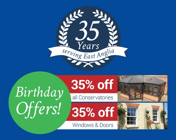35% off windows doors and conservatories