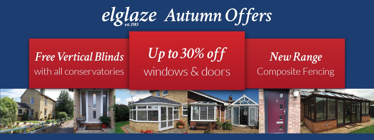 Elglaze Autumn Offers - 30% off windows and doors